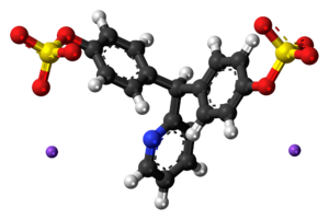Sodium picosulfate - Image: Sodium picosulfate ions ball