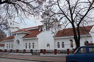 Obrenovac - Image: Sokolski dom Obrenovac