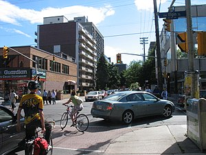 Somerset Street (Ottawa) - Modern view of Somerset Street West at Elgin Street, 2008