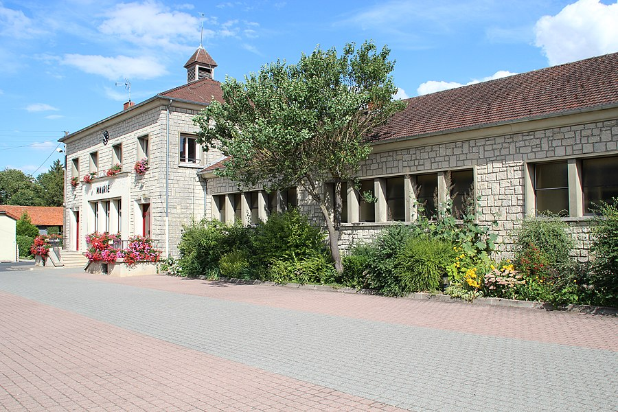 Views of Sommesous village in France in 2012.