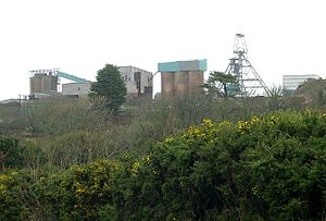 English: South Crofty Mine. South Crofty had b...