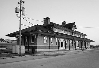 Bessemer, Alabama - Southern Railway depot in Bessemer, 1905.  Photo by Jet Lowe.