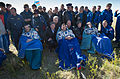 Soyuz TMA-07M crew shortly after landing.jpg