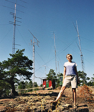 A young Polish woman with radio antennas in Aland Sp5hnk oh0.jpg
