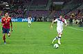 Spain - Chile - 10-09-2013 - Geneva - Alvaro Arbeloa and Eugenio Mena 4.jpg
