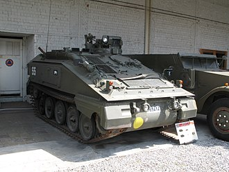 Osnabrück mortar attack - A Spartan armoured carrier, a type of vehicle deployed at Osnabrück as part of the 4th Armoured Brigade
