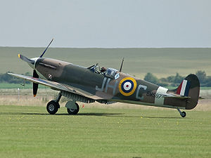 "Supermarine Spitfire (early Merlin-powered variants) - Spitfire Mk VB BM597 of Duxford's Historic Aircraft Collection in the markings of 317 (Polish) ""Wileński"" Squadron."