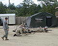 Spouses of U.S. Soldiers endure training in tactical Warfare for a day during the Combat Spouse's day event at the Forward Operating Base on, Fort Gordon Ga 090421-A-NF756-006.jpg