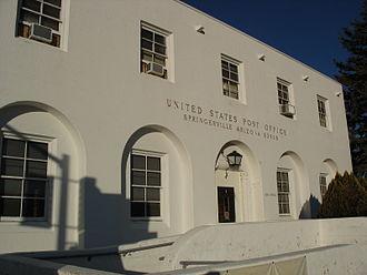 Springerville, Arizona - Springerville Post Office with postal code 85938