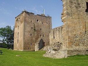Der David's Tower mit Teilen der Ruine