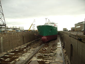Louis Joubert Lock - A ship in the Louis Joubert Lock