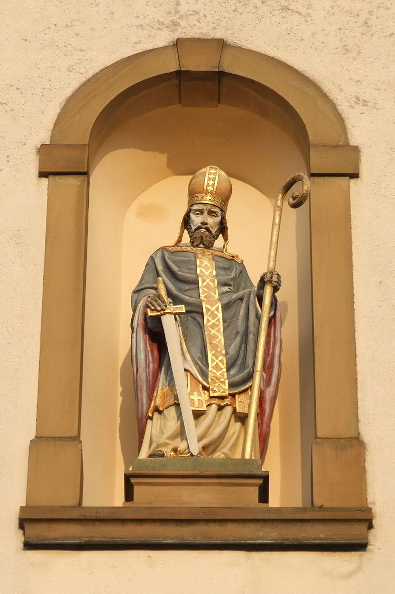 St. Lambert, statue i Mingolsheim