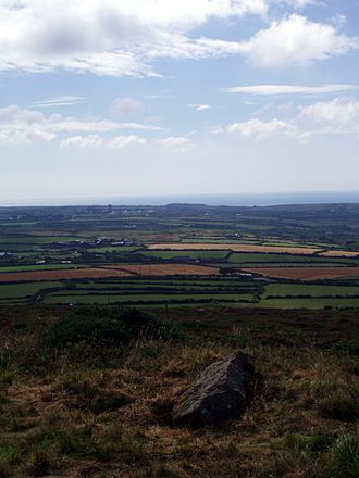 St Buryan - The parish of St Buryan as seen looking south from Chapel Carn Brea, the highest point in the parish