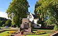St Andrews Church and war memorial West Linton Peeblesshire.jpg
