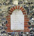 St John, Hoveton, Norfolk - Exterior wall monument - geograph.org.uk - 484180.jpg