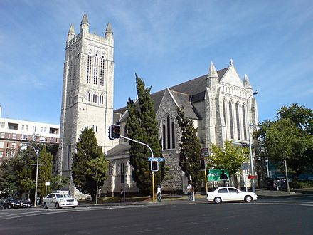 St Matthew-in-the-City, a historic Anglican church in the Auckland CBD St Matthew In The City Auckland.jpg