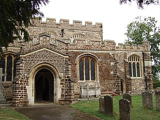 Tingrith - Image: St Nicholas, Tingrith , Porch, South Aisle and Nave geograph.org.uk 220850