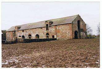 Theodosia Meade, Countess of Clanwilliam - Surviving fragment. The Stable block of Gill Hall, January 2002