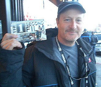 Stacy Peralta - Peralta holding a producer credit for The 1 Second Film in 2005