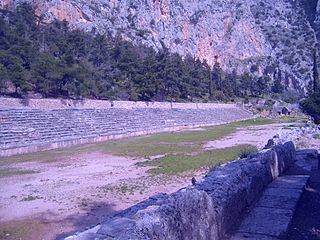 Stadium of Delphi building in Delphi, Central Greece Region, Greece