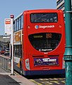 Stagecoach in Manchester bus 19632 (MX59 KJF) 2009 Alexander Dennis Enviro400 integral, Stockport, 2 May 2011.jpg