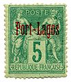 Stamp French PO Port Lagos 1893 5c.jpg