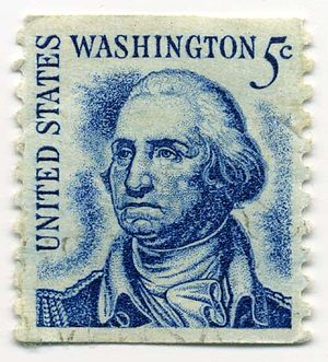 Prominent Americans series - Original 5¢ Washington design, 1966