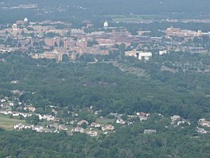 State College, Pennsylvania - Aerial view of State College