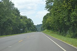State Route 7 just east of Crown City