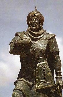 Statue de Okba ibn Nafi al Fihri en Algérie.jpg