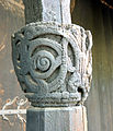 Stave church Urnes, capital on post of entry.jpg