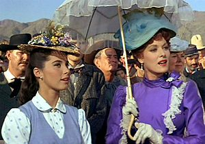 Stefanie Powers - Powers (left) with Maureen O'Hara in McLintock!, 1963