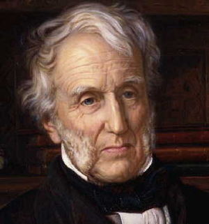 Stephen Lushington (judge) - 1862 portrait (detail) by William Holman Hunt