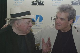 Robert Pinsky - Pinsky (right) with Gerald Stern at the Miami Book Fair International 2011