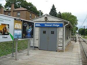 Stewart Ridge station - Image: Stewart Ridge Metra Station