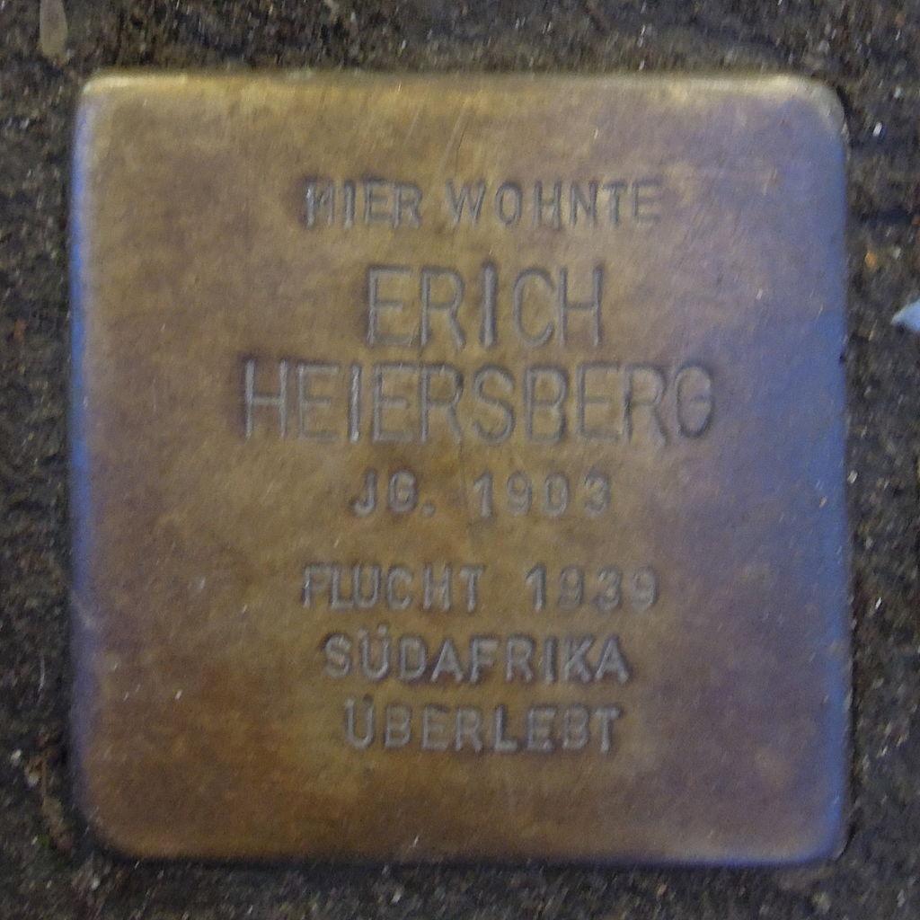 Stolperstein für Erich Heiersberg