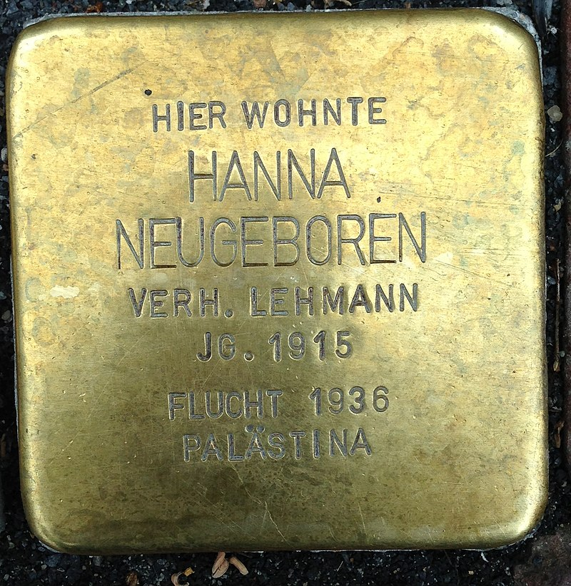 Stolperstein Kleve Große Straße 90 Hanna Neugeboren