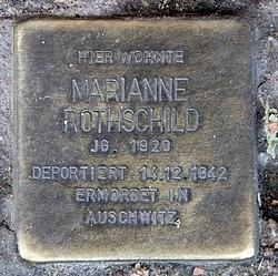 Photo of Marianne Rothschild brass plaque