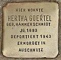 Stolperstein für Hertha Goertel (Cottbus).jpg