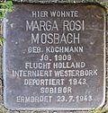Stumbling block for Marga Rosi Mosbach (Rheinaustraße 18)