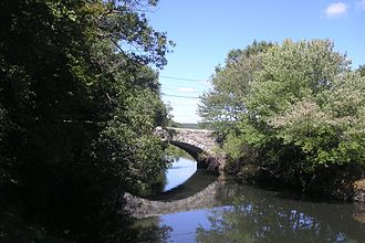 Boston Post Road - The Stone Arch Bridge in Uxbridge, Massachusetts