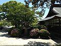 Stone lantern and Kaiunden Hall of Miyajidake Shrine.JPG