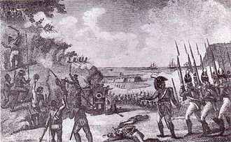 January 8: Battle of Blaauwberg Storming the Cape 1806.jpg