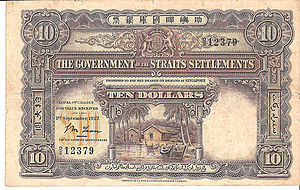 Straits dollar - Ten Straits Dollar banknote from 1927