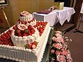 Strawberry topped wedding cake Japan.jpg