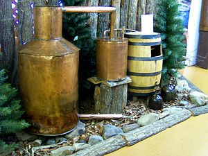 English: Moonshine still at the McCreary Count...