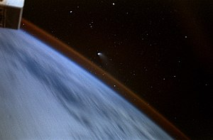 STS-84 -  Comet Hale–Bopp imaged by a shuttle crew member