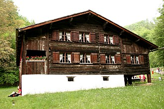"""Vorarlberg - """"Bregenzerwälderhaus"""" in Stübing, Austria, Europe"""