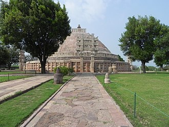 Buddhist devotion - The Sanchi stūpa, a traditional pilgrimage place in India.