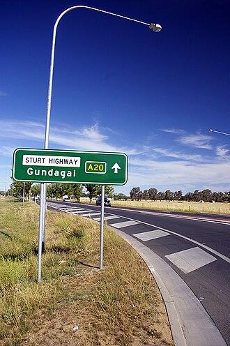 Sturt Highway - Image: Sturt Highway A20